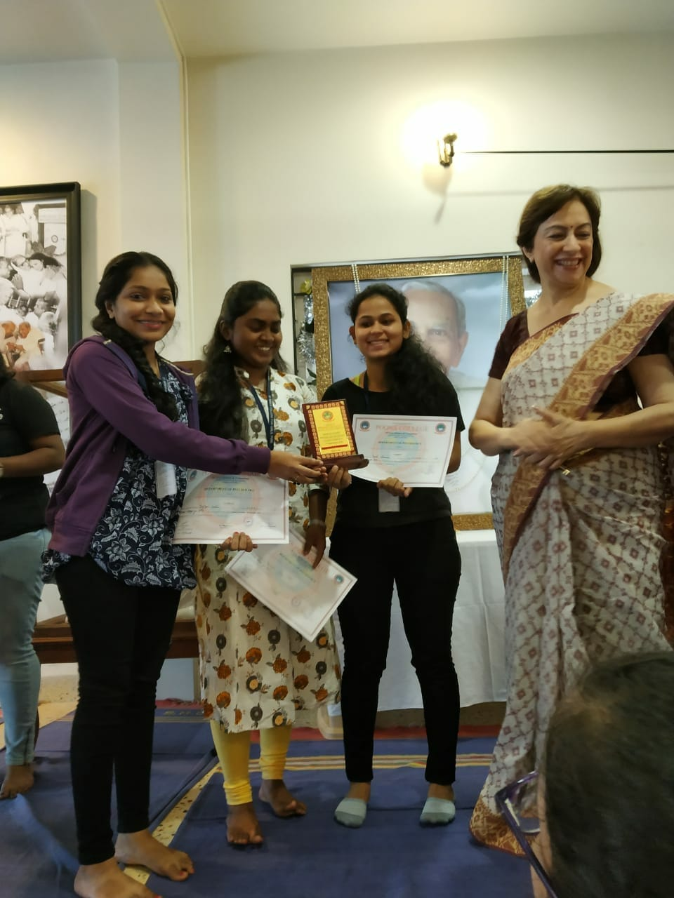 1st Prize Winners-Intercollegiate Psychology Exhibition Psy Spectrum 2018-Poona College