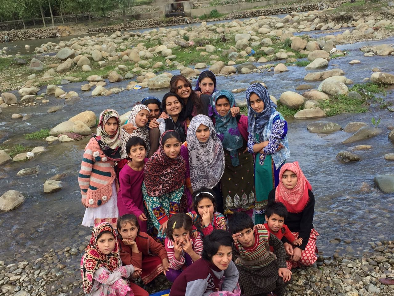 Zahra and Neha at Borderless World Foundation, Kashmir 1 May 2018 Dept- Poli n Pub Adm