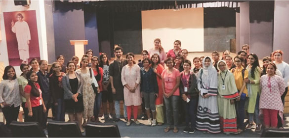Our poetry enthusiasts with Ankita Singh and Shahid Khan.