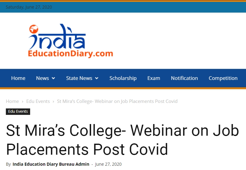 Webinar On Job Placements Post Covid