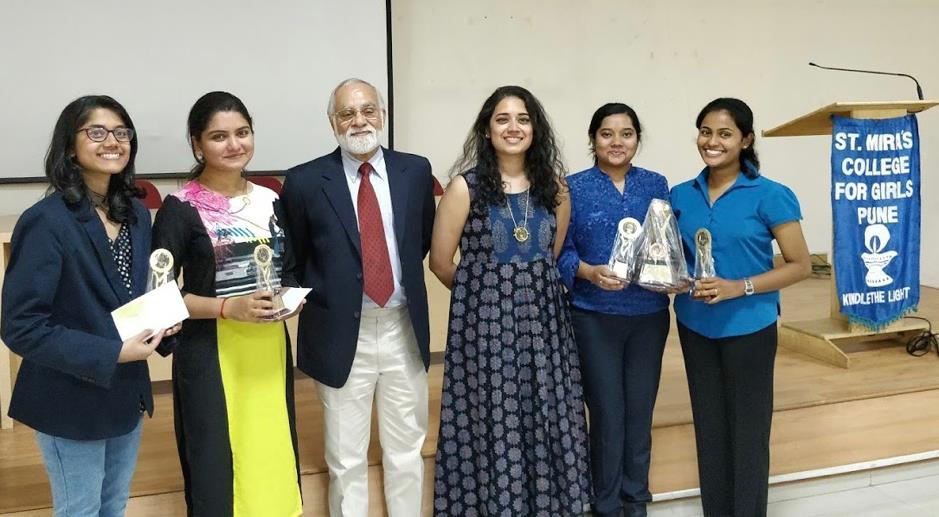 The Runner – Up Team and the 2<sup>nd</sup> Best Speaker prize winners, Sharon Chandekar and