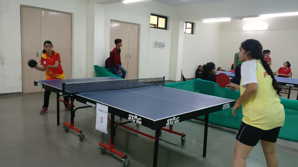 Inter Collegiate table tennis Competition our team secured fourth Place. (while playing the match)2