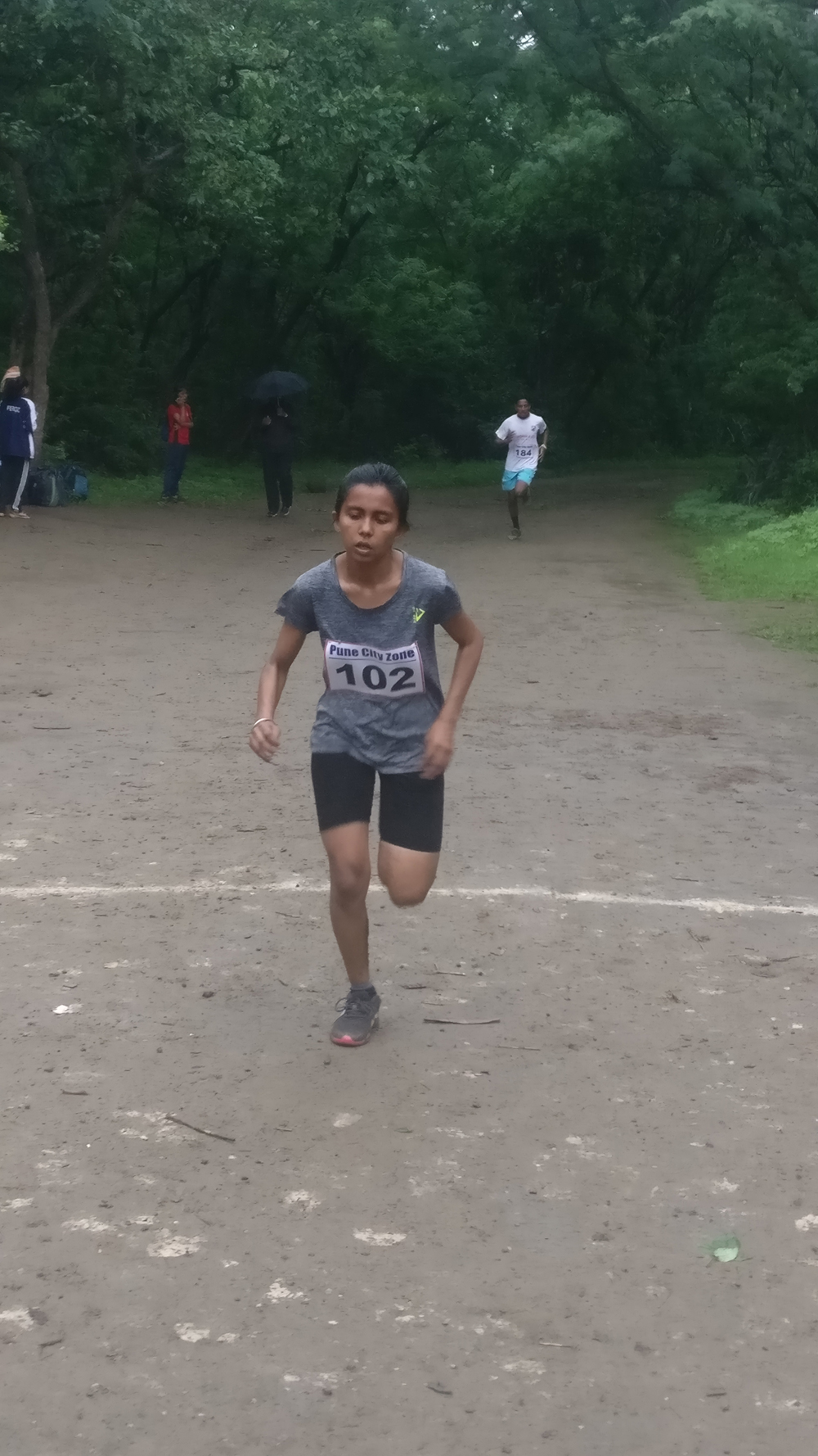 Inter Collegiate Cross Country Competition Senhanjali Yadav secured fourth place
