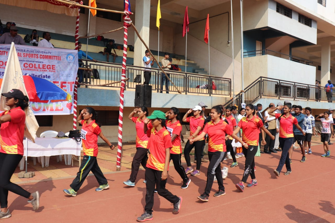 Inter Collegiate Athletics Competition our team doing march past