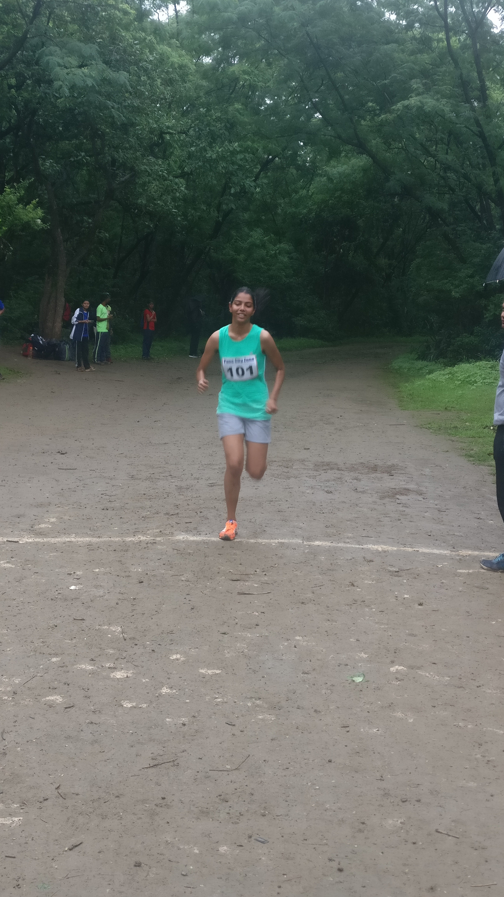 Inter collegiate cross country competition Sampada Buchade (SYBA) secured first place