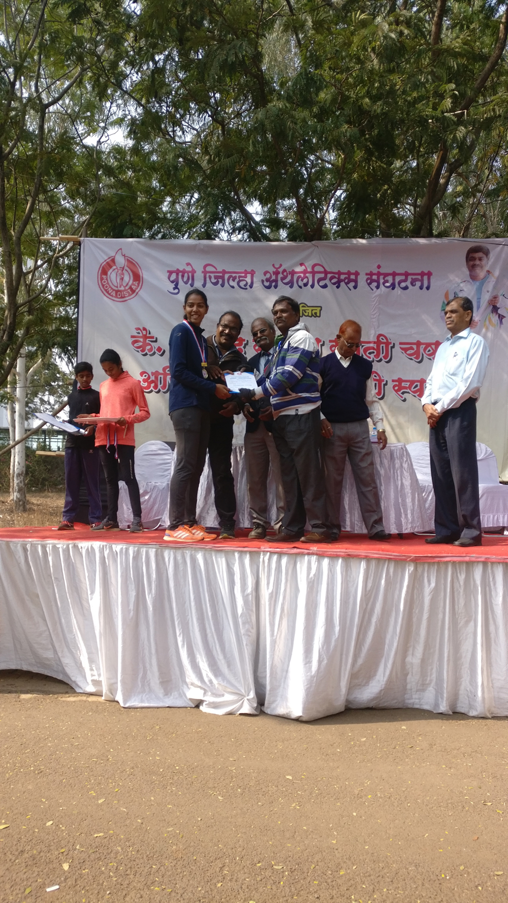 In Pune Dristrict Cross Country Competition 2018-19 - Sampada Buchade stood First 1