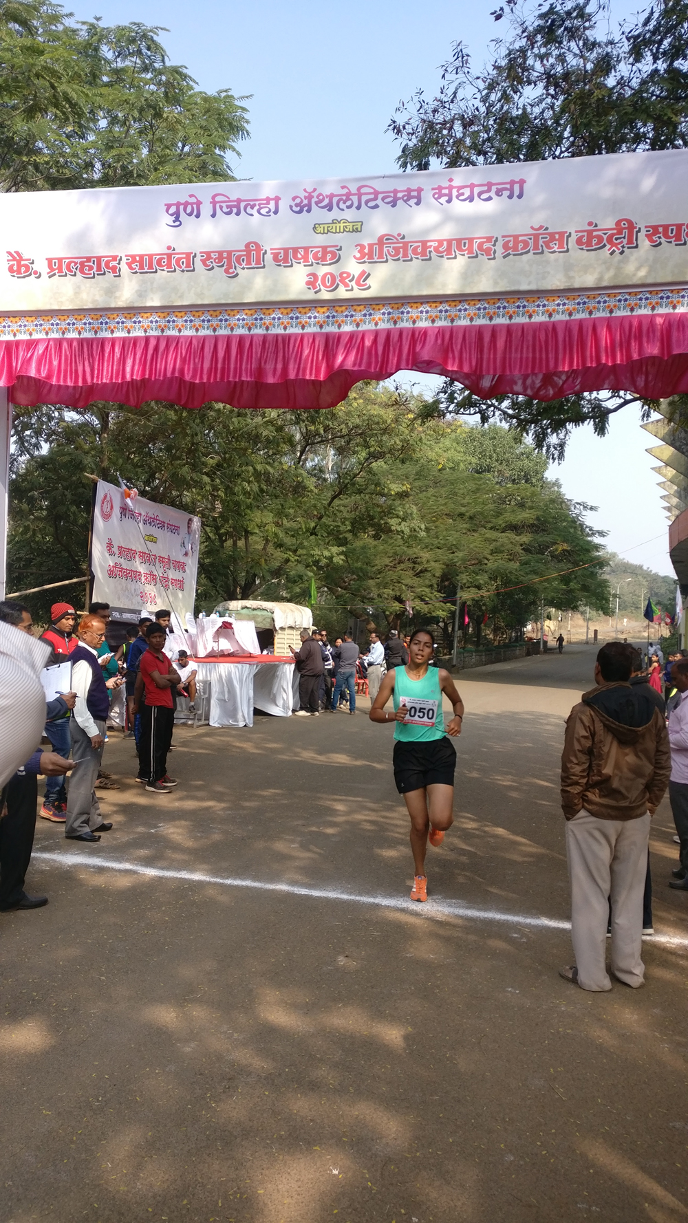In Pune Dristrict Cross Country Competition 2018-19 - Sampada Buchade stood First.