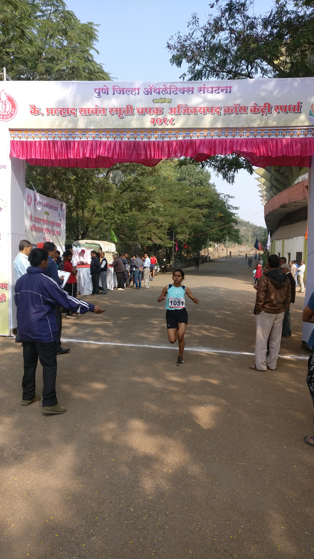 In Pune Dristrict Cross Country Competition 2018-19 - Snehanjali Yadav - stood Thrid