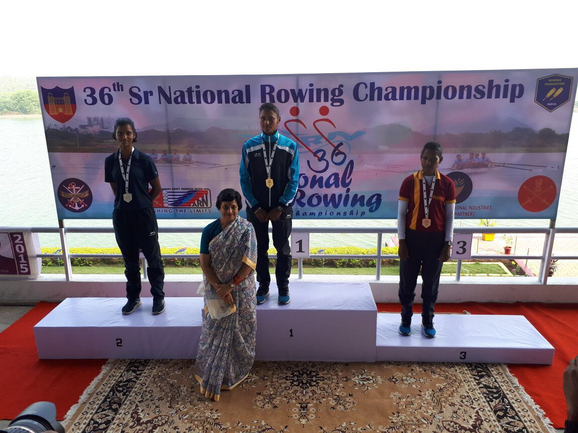 Yamini Singh (SYBBA)- Second place in 36th Sr. National Rowing Championship