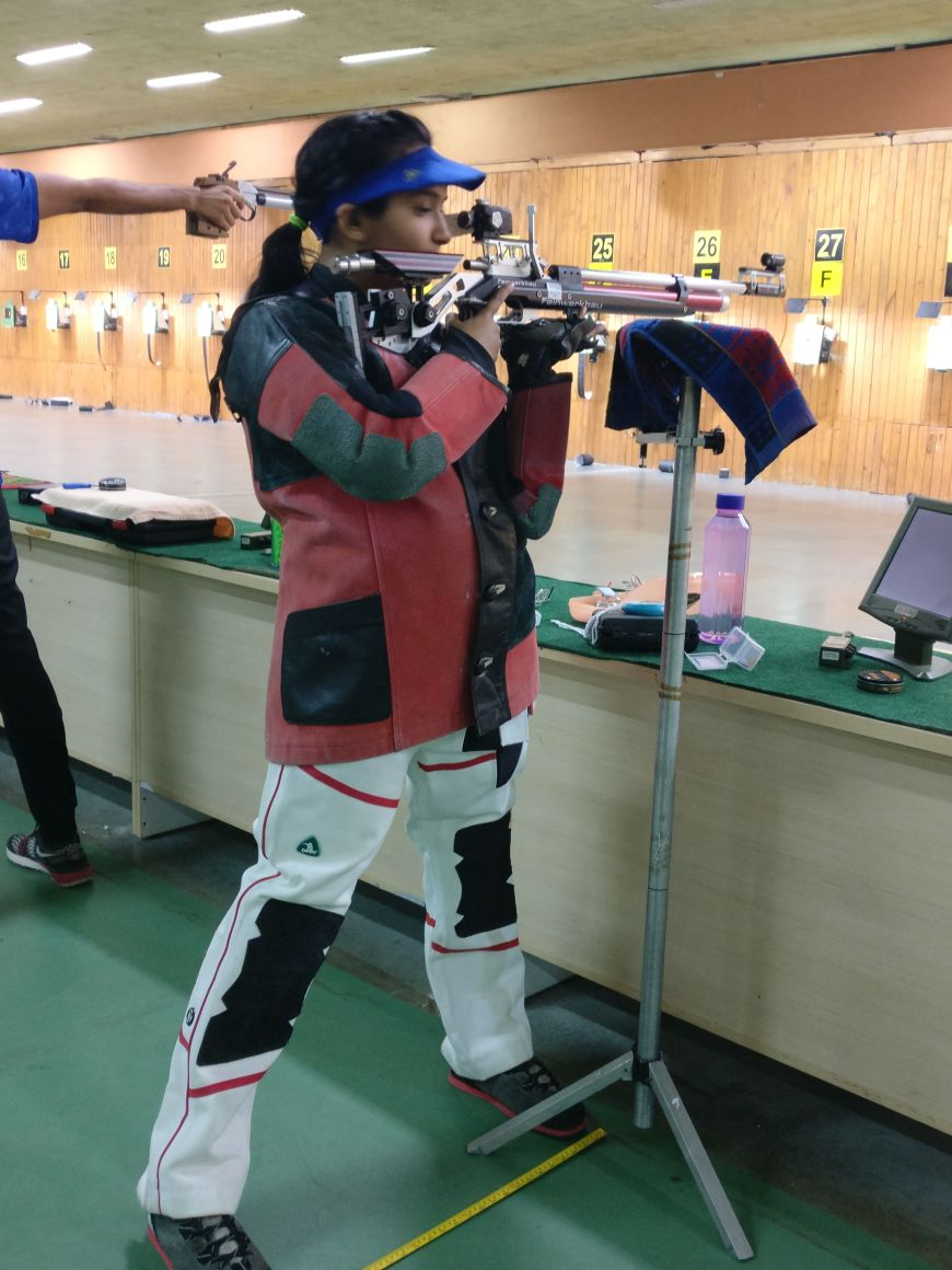 Aditi Shukla (TYBA) Participated in 61st National rifle shooting competition 2017-18  held at kerala