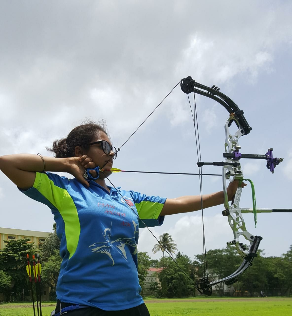 Disha Oswal During practice session of Archery