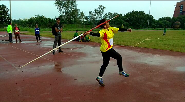Tanaya Joshi (XII  Arts) Gold medal in Javelin throw School State Competition held at Nagpur