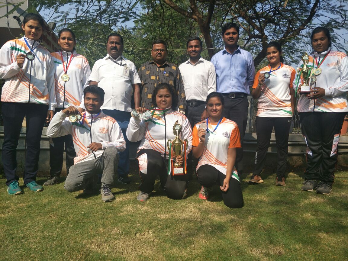 Muskan Bishnoi (FYBA) Silver Medal in All India Inter University Archery competition 2017-18 held at Bhubaneshwar