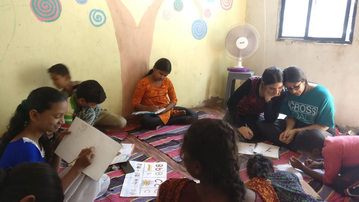 Lujain and Sanjna drawing classes
