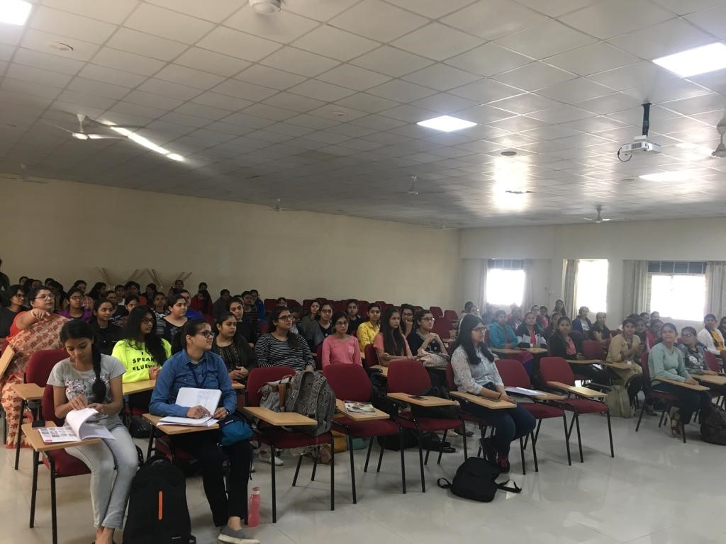 Students interaction with Ms Cheryl Fernandes