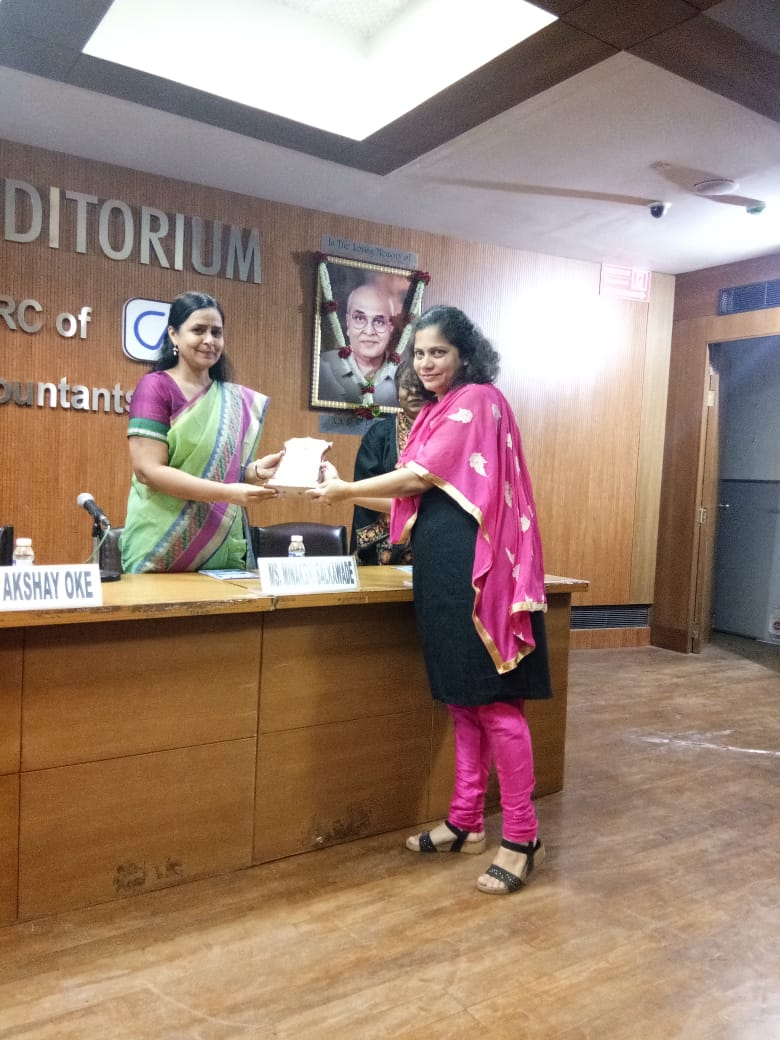 Felicitation of Ms. Meenakshi Wagh by ICAI Pune Branch