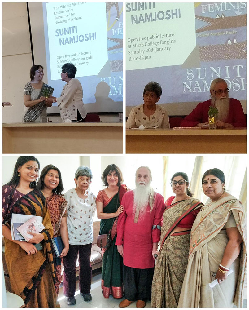 The Dept. of English was absolutely delighted to host Prof Hoshang Merchant and Suniti Namjoshi at 														St. Mira's College