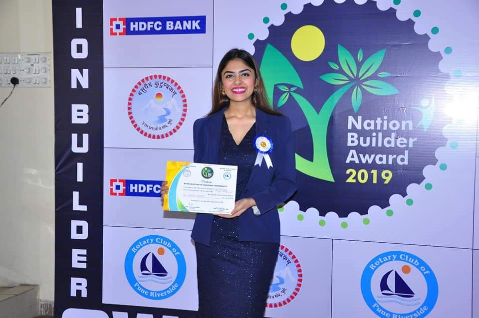 St. Mira's College is very proud of our alumna Ms Mihika Bhanot who receives the Nation Builders Award 2019!