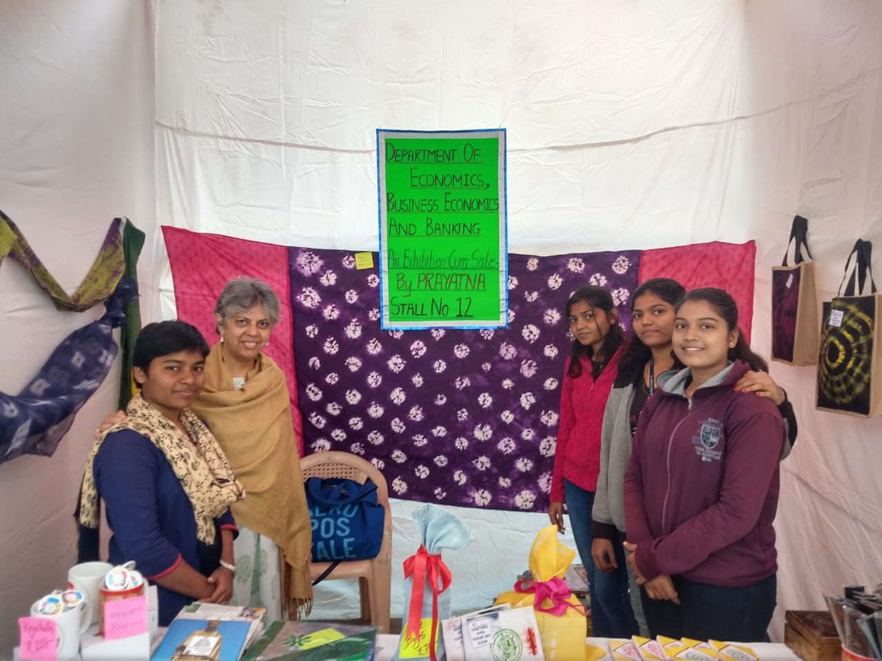 Community Outreach Initiative of Depts of EcoBEcoBkg-Sale of Products of NGO PRAYATNA at Mira Bazaar 17-12-2018