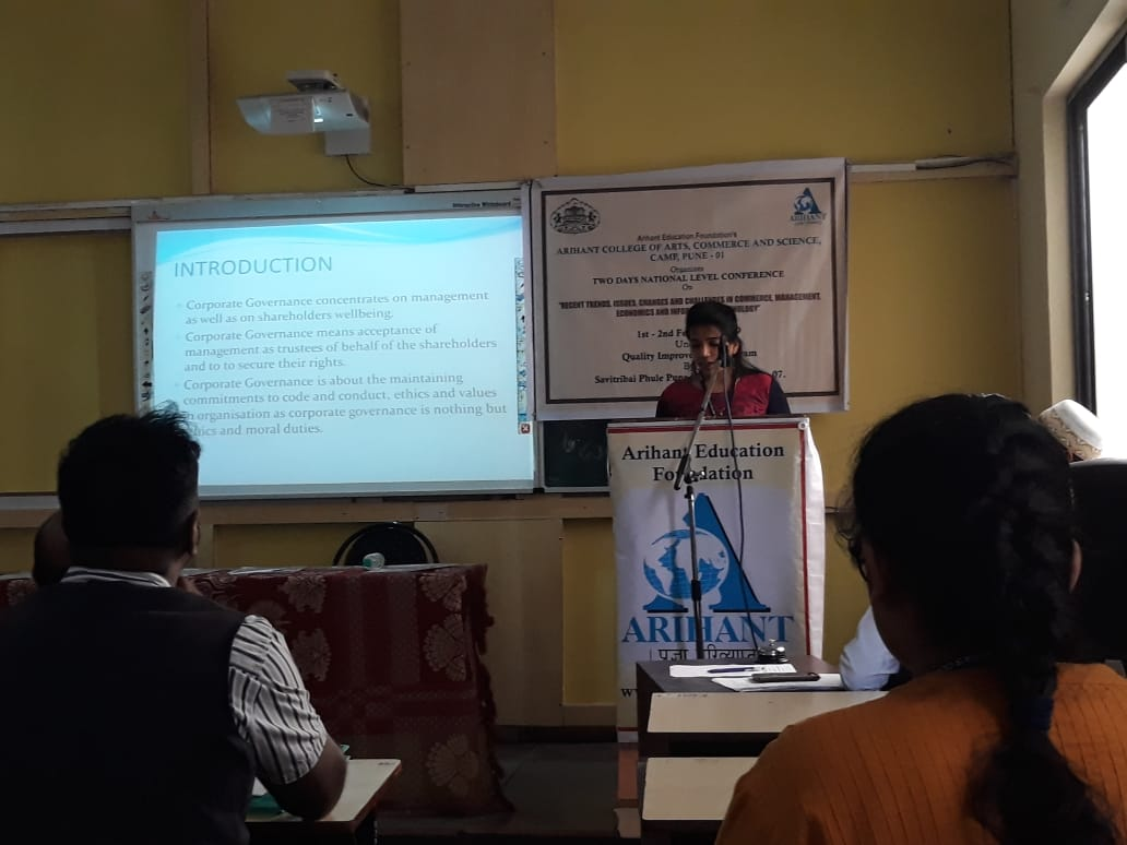Paper Presentation By PG Student at National Conference