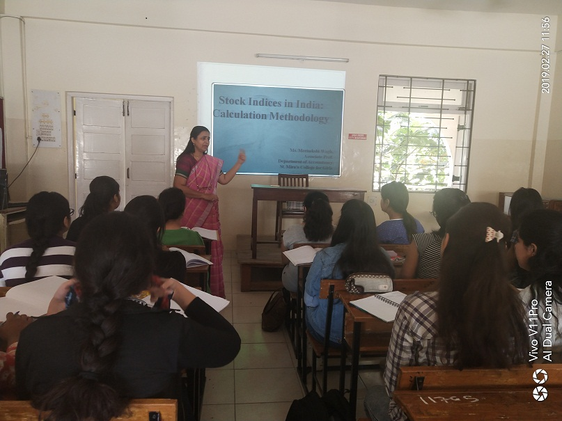 Prof. Minakshi Wagh guest lecture with TYBBA
