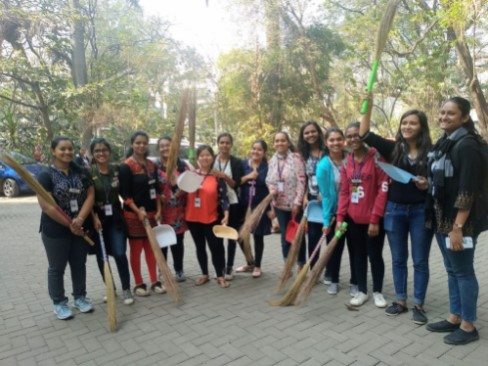 Student Council 2018-19 ready for the cleanliness drive