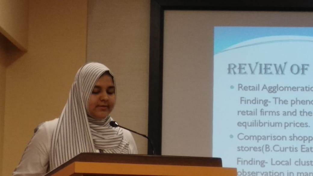Sahla Fayeeza- At National Conference, Presenting Paper