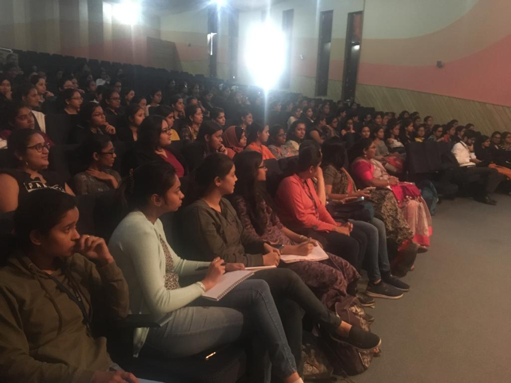 Students attending TCS Pre Placement Talk