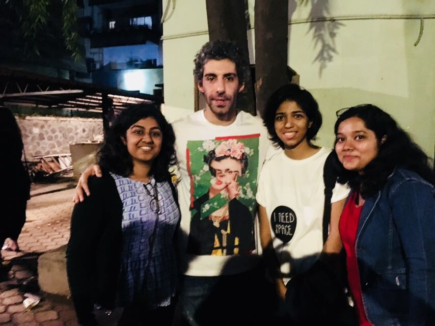 Students and Faculty with Jim Sarbh