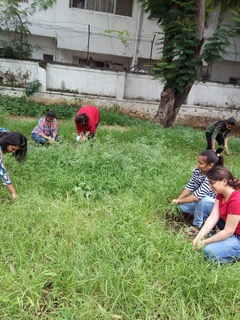 Swacchata Pakhwada - Green Club members weeding