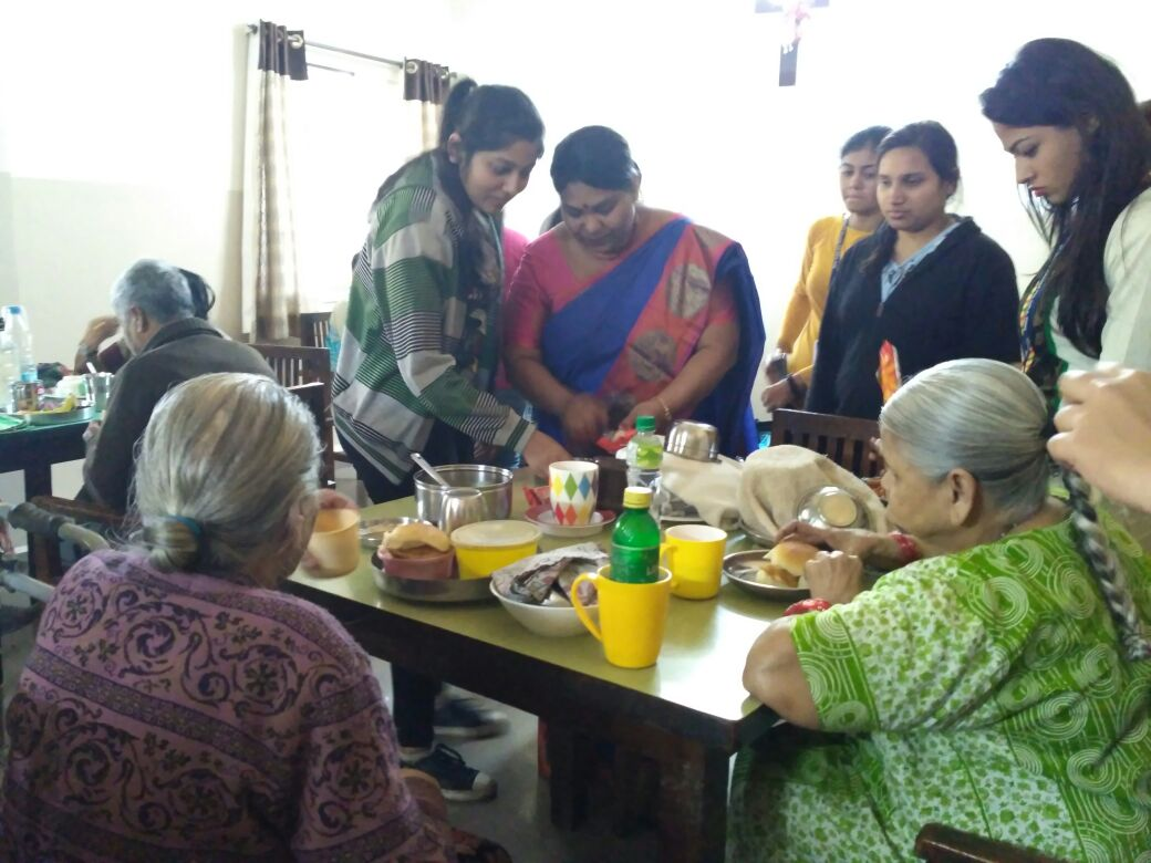 Social Service - Ty Bcom - Sandhya Home for Aged