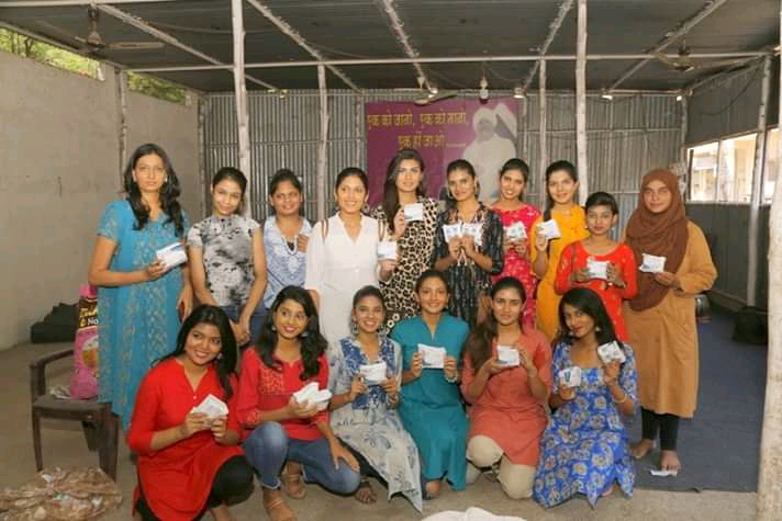 Volunteers with the Tiara Beauty Pageant Participants